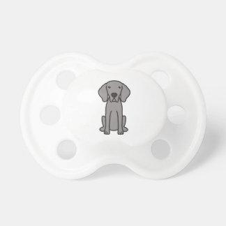 Weimaraner Dog Cartoon Baby Pacifier