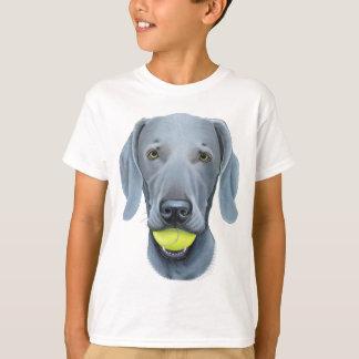 Weimaraner with Tennis Ball T-shirts