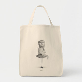 Weird Girl Grocery Tote Bag