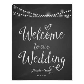 Welcome to our wedding print