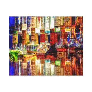 Wet Bar Abstract Stretched Canvas Print