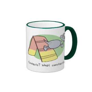 What Contacts? Dog Agility Ringer Coffee Mug
