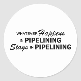 Whatever Happens - Pipelining Round Sticker