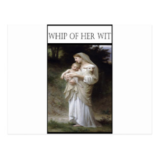 WHIP OF HER WIT -Innocence Postcard