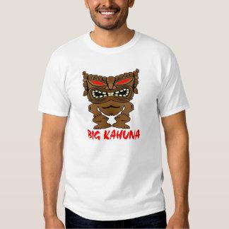 White Big Kahuna Tiki God T Shirt
