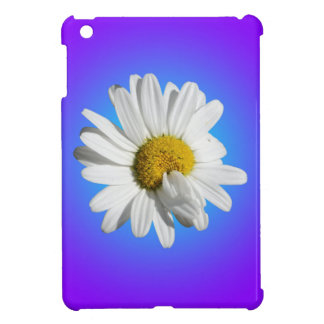 White Daisy Flower Floral Purple Blue Gradient iPad Mini Cover