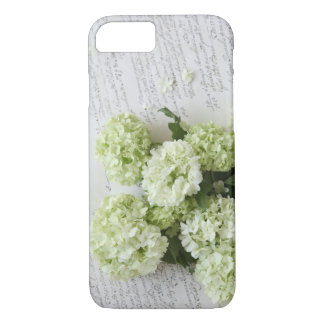 White hydrangeas with script writing iPhone 7 case