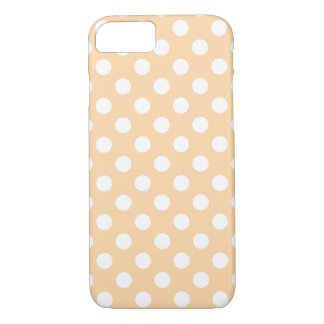 White polka dots on beige iPhone 7 case