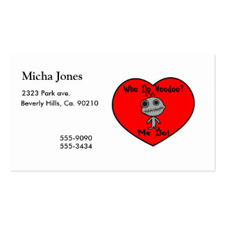 Who Do Voodoo Doll Business Card