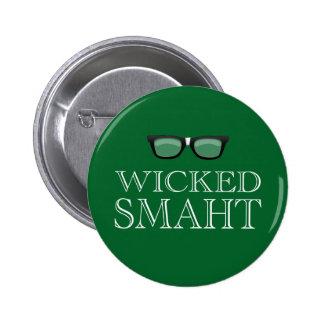 Wicked Smaht(Smart) Boston Speak Humor 2 Inch Round Button
