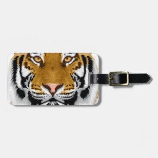 wildlife tiger head animal design travel bag tags