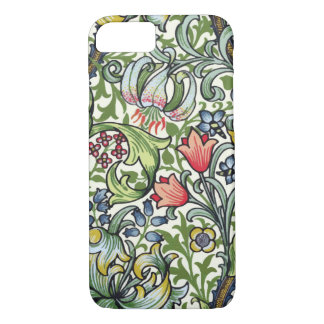 William Morris Golden Lily Floral Chintz Pattern iPhone 7 Case