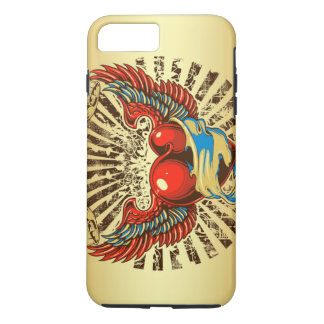 Winged heart tattoo iPhone 7 plus case
