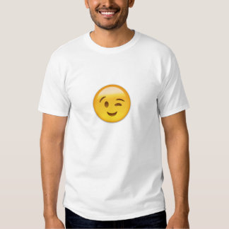 Winking Face Emoij T Shirts