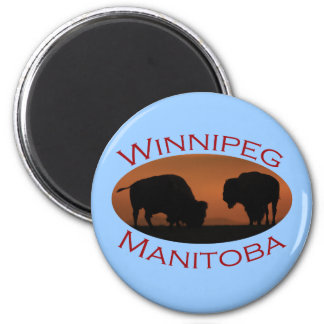 Winnipeg, Manitoba 2 Inch Round Magnet