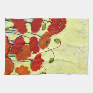 Wishful Blooming Red Poppy Kitchen Towel