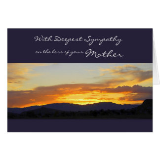 With Deepest Sympathy on the Loss of your Mother Greeting Card