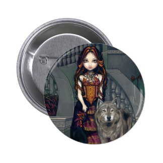 """""""Wolf Countess"""" Button"""