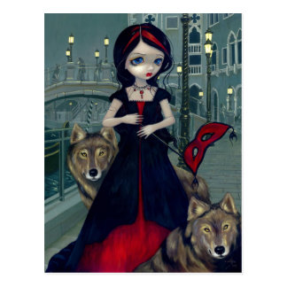 """Wolves of Venice"" Postcard"