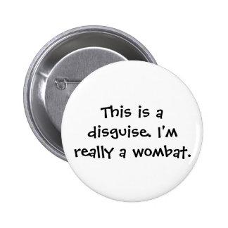 Wombat Costume 2 Inch Round Button