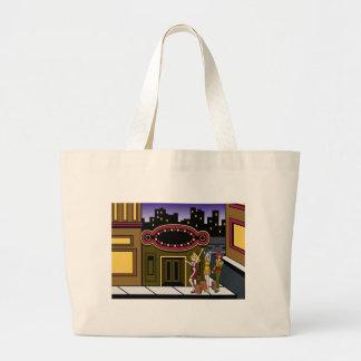 Women Outside Downtown Store Jumbo Tote Bag