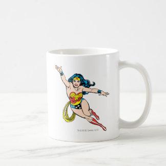 Wonder Woman Flying Forward Classic White Coffee Mug