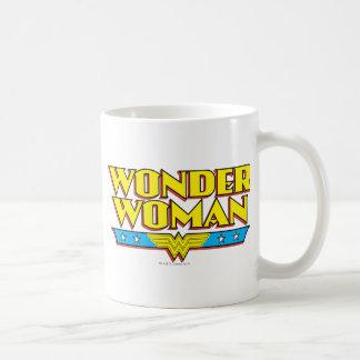 Wonder Woman Name and Logo Classic White Coffee Mug