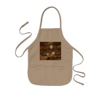 Wonderful steampunk in golden colors kids apron
