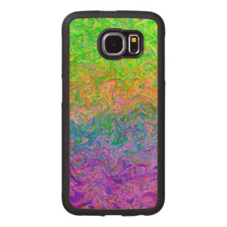 Wood Case Samsung Galaxy S6 Fluid Colors
