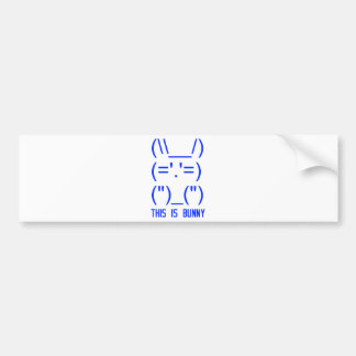 World Domination Bunny Bumper Sticker