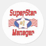 World's Best Boss Gifts Round Sticker
