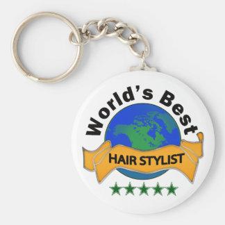 World's Best Hair Stylist Basic Round Button Keychain