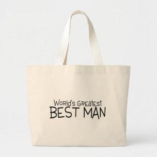 Worlds Greatest Best Man Jumbo Tote Bag