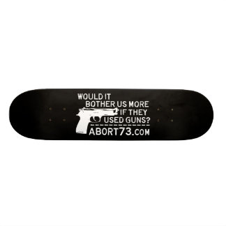 Would it Bother Us More if They Used Guns? Abort73 Skateboard Decks