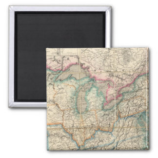 Wyld's Military Map Of The United States Square Magnet