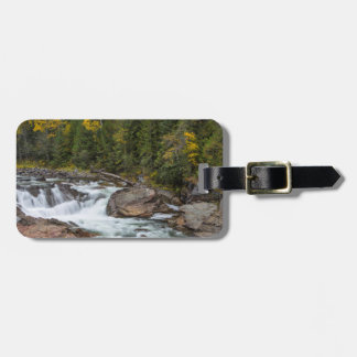 Yaak Falls In Autumn In The Kootenai National Tag For Luggage
