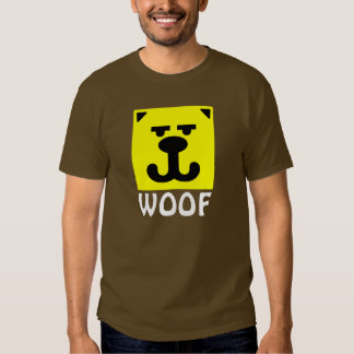 Yellow Bear Smiley Woof Tshirts