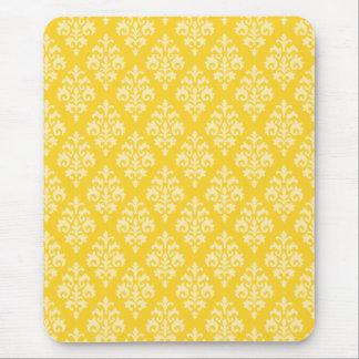 Yellow Damask Mousepad