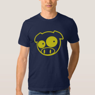 Yellow Mascot Pig T-shirts