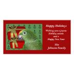 Yellow Naped Amazon Parrot Christmas Holiday Card Customized Photo Card