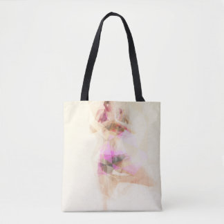 Yoga Concept Illustration Abstract as a Concept Tote Bag