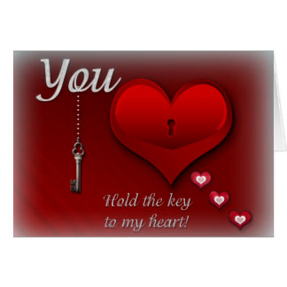 You hold the key to my heart greeting card