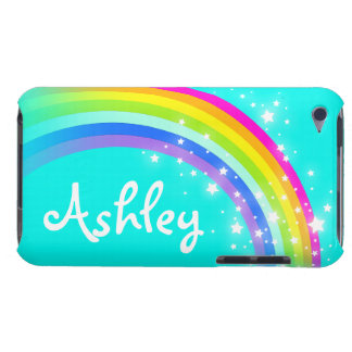 Your name 6 letter rainbow aqua ipod touch case