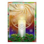 Yule Sun Greeting Card