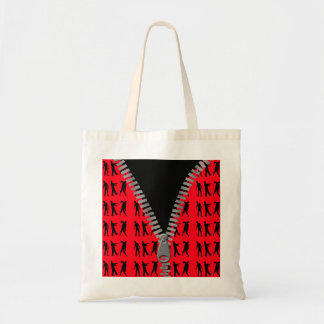 Zipped Up Zombies Everywhere Budget Tote Bag