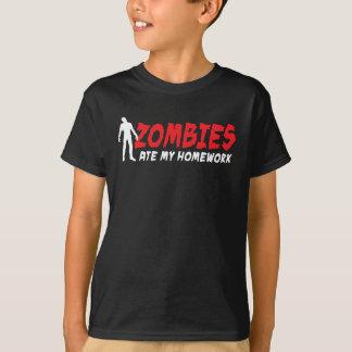 Zombies ate my homework shirt