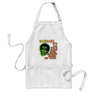 Zombies Humor Standard Apron