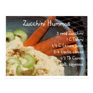 Zucchini Hummus Postcard